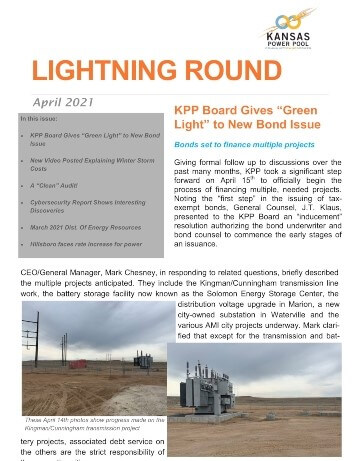 Cover of April 2021 Lightning Round