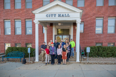 Augusta City Members Posing Outside August City Hall