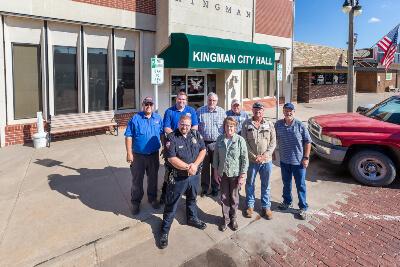 Kingman City Members Standing In Front of Kingman City Hall