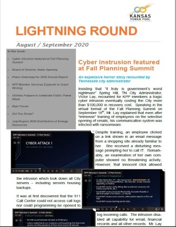 "Cover of Aug/Sept 2020 ""Lightning Round"""