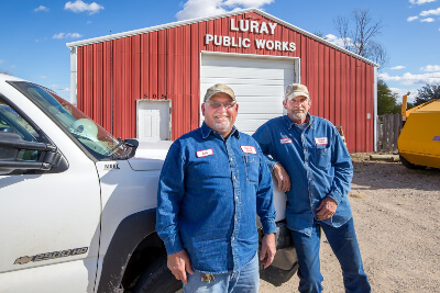 Luray City Members Standing In Front of Luray Public Works