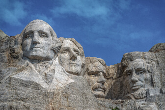 Presidents faces on Mount Rushmore