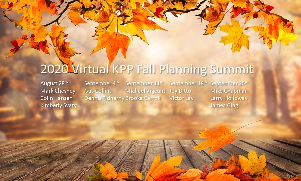 2020 Virtual KPP Fall Planning Summit